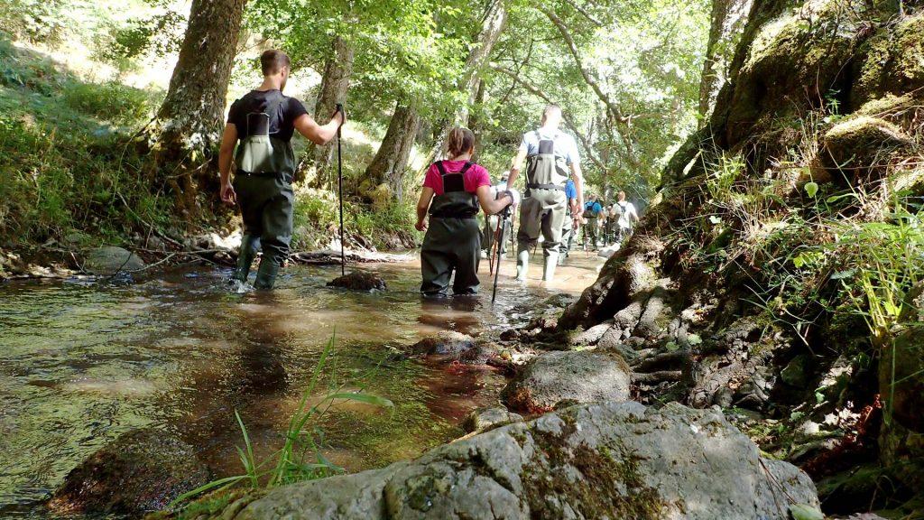 water-trekking in sila