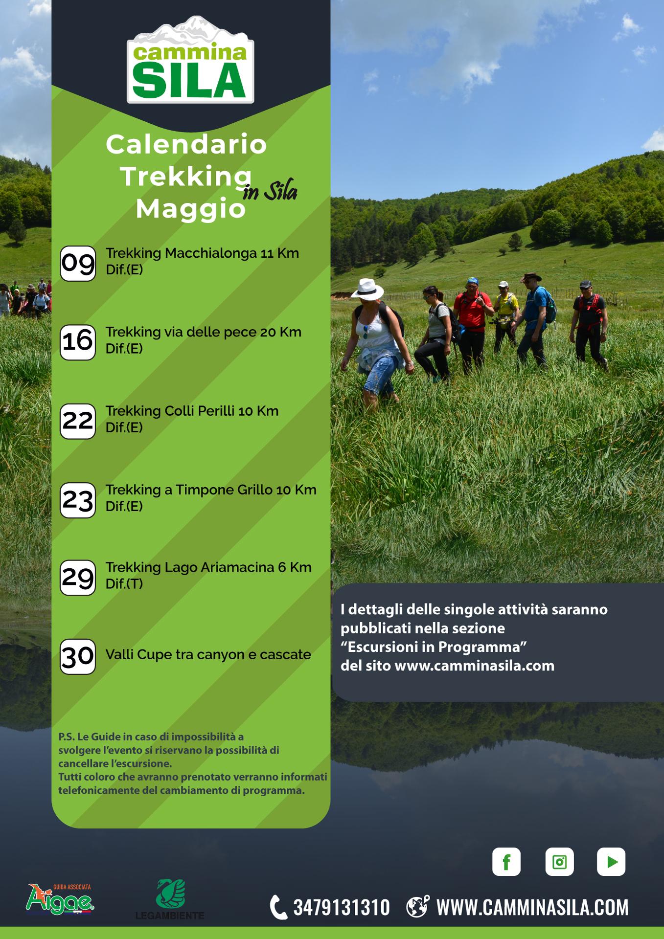 Calendario escursioni di Maggio