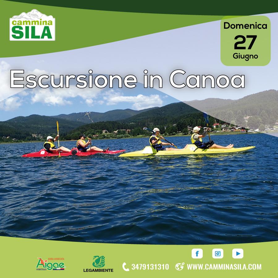 Escursione in Canoa in Sila Domenica 27 Giugno