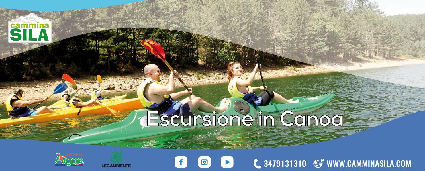Lunedì 09 Agosto Escursione in Canoa in Sila