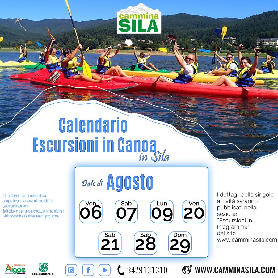 """CALENDARIO ESCURSIONI in canoa """"CLICCA SULL'IMMAGINE PER VEDERE GLI EVENTI CON LE INFORMAZIONI"""""""