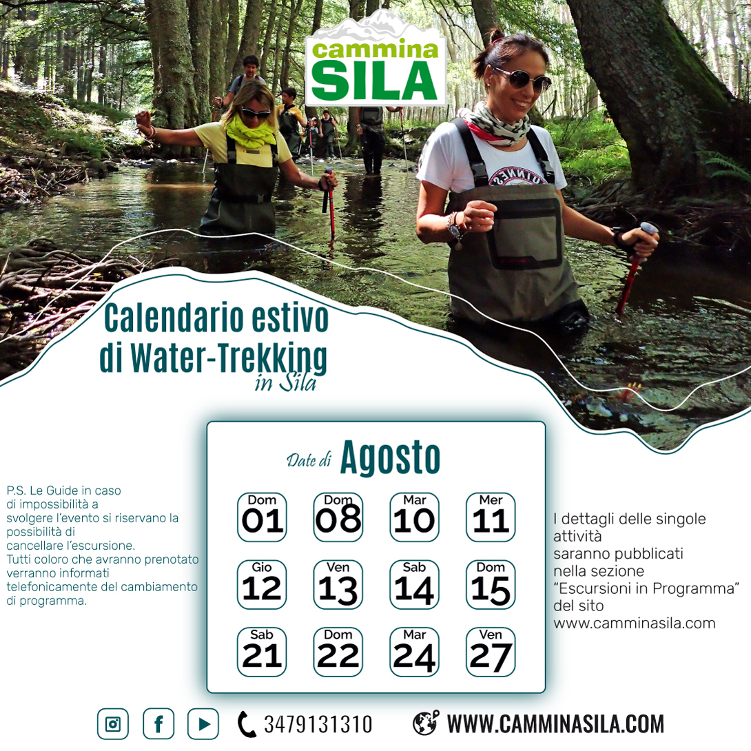 """calendario water-trekking """"clicca sull'immagine per vedere gli eventi con le informazioni"""""""