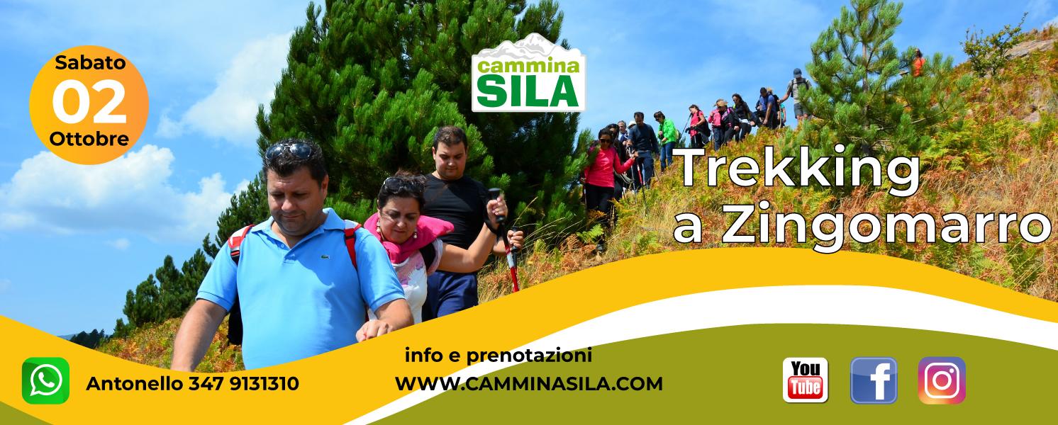 Sabato 02 Ottobre Trekking a Zingomarro CLICCA SULL'IMMAGINA PER LE INFO