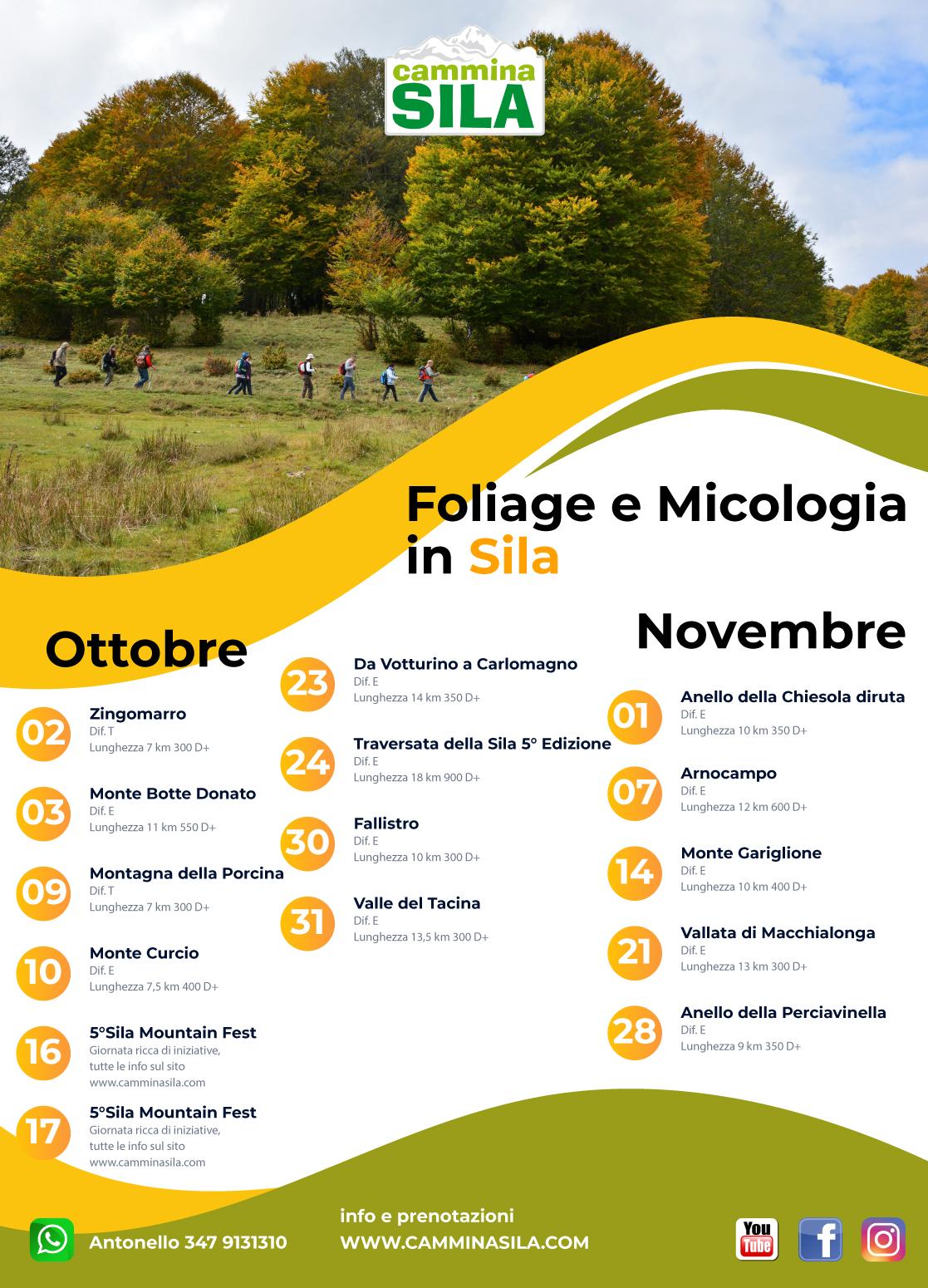 Calendario Ottobre novembre