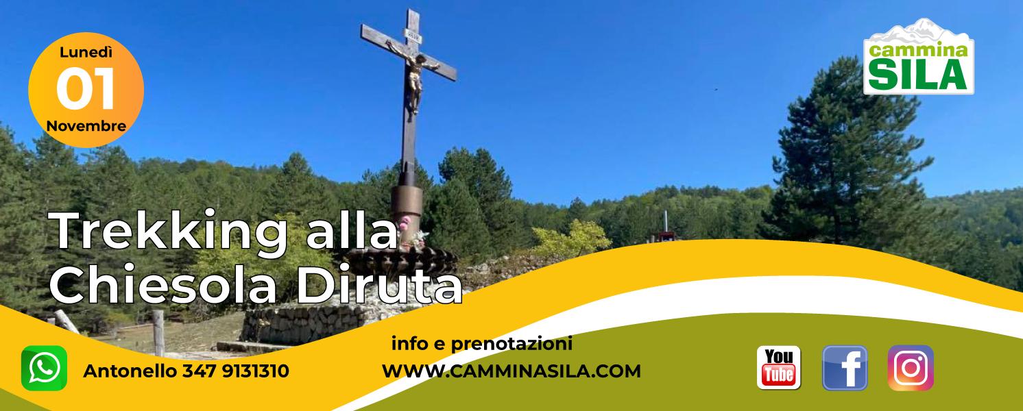 Lunedì 1 Novembre Trekking alla Chiesola Diruta clicca sull'immagine per le info